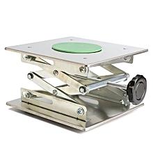"""8"""" Adjustable Lift Laboratory Jiffy Jack Stainless Steel Lab Platform 200x200mm"""