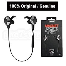 Remax S2 Magnet Sports Bluetooth Headset Earphone-BLACK  OPTTCOOL