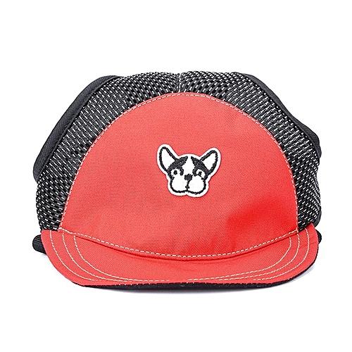 25e3dfe3 Generic Home-Fashion Dog Cat Baseball Visor Sport Hat Cap Ear Holes  Breathable Sunbonnet Red