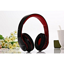 Bluetooth Headphones Wireless Stereo Sound Music Headsets With Mic Support TF Card FM Radio Earphone For Smartphones Tablet(red)