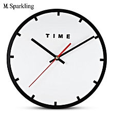 M.Sparkling Acrylic Minimalism Mute Wall Clock for Home Office BLACK WHITE