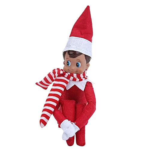 elf on the shelf christmas tradition plush dolls with scarf figure novelty gift elf doll on - Elf On The Shelf Christmas Tradition