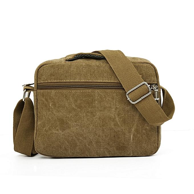 Guoaivo Men Canvas Bag Casual Travel S Crossbody Messenger Bags Kh