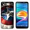 Tecno Camon X (3PCS X Phone Case) Silicone Case TPU Anti-knock Phone Back Cover - Multi-color(Dunk+Captain America+Phoenix Feather)