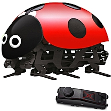 DIY RC Ladybug Toys Assembled Remote Control Simulation With Remote Controller -