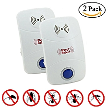 Ultrasonic Pest Repeller,  Electronic Plug In Insect Repellent, Indoor Pest Control With Night Light - 2 Pcs, US Plug