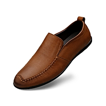 Men Casual Cow Leather Loafer Shoes