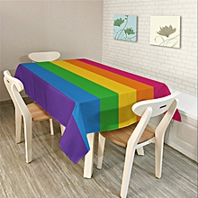 Modern Simple Rectangle Polyester Tablecloth Colorful Triangle Geometry S
