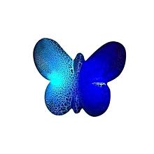 S830 Wireless Speaker Portable Mini Bluetooth Speaker LED Crack Pattern Butterfly Shape Music Loudspeaker Support TF Card(Blue)