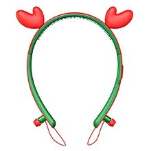 Encore Wink Bluetooth Headphones with LED Light - Red +Green