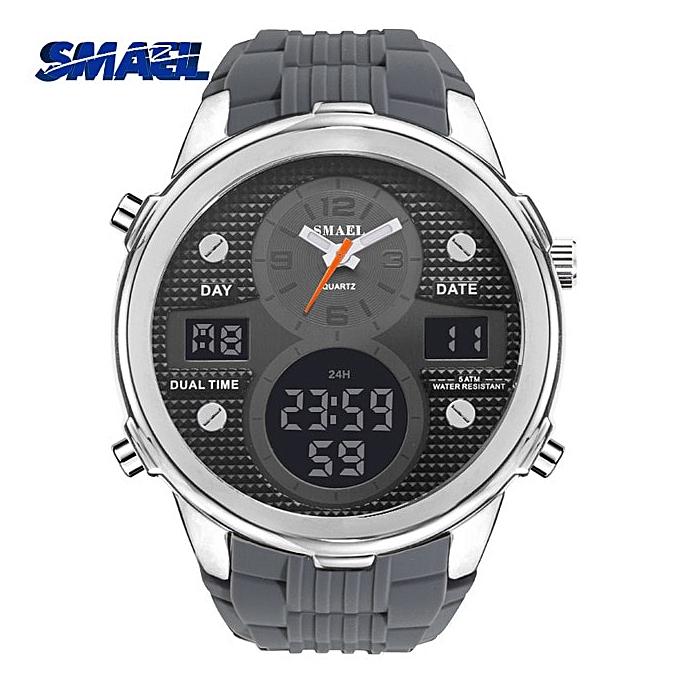96778208 Brand 2019 Top Luxury Quartz Watch Men Fashion LED Digital Wristwatch Mens  Sport Casual Watches Masculino Reloj Hombre1273(Silver Watch)