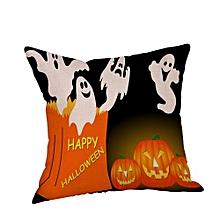 Halloween Pillow Cases  Linen Sofa Pumpkin Ghosts Cushion Cover Home Decor I