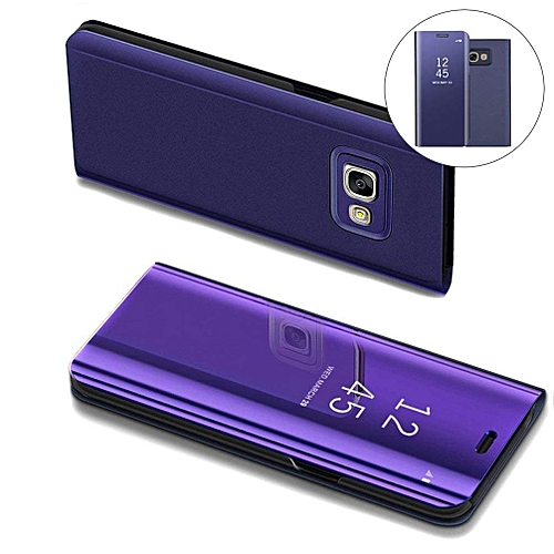 super popular bc20e 63ac3 Samsung Galaxy A5(2017) Leather Case, Pu Leather Flip Case Cover For  Samsung Galaxy A5(2017) With Stand Function And Plating Mirror - Purple.