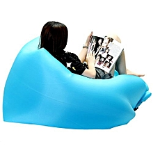 190Tpolyester Oxford PE Inflatable Square-headed Lazy Couch Camping Hiking Sleeping Bag Air Bed Lounger Laybag Sofa
