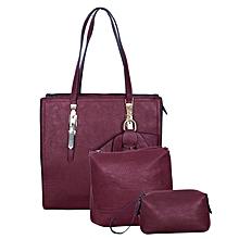 3-in-1 Maroon Handbag