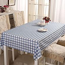 PVC Tasteless Waterproof Tablecloth Transparent Soft Glass Table Mat Stripe Grid Printing