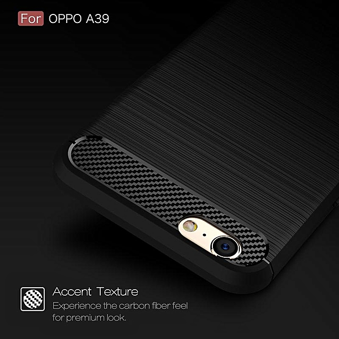 For OPPO A39/A57 Ultra Slim Soft Carbon Fiber Case With HD .