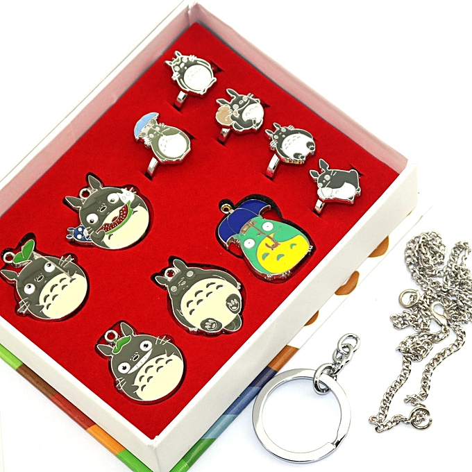 ... Totoro Hayao Miyazaki color ten styles of shape necklaces mourn to fall  to ring suit ... 9cf7c7af98fcb