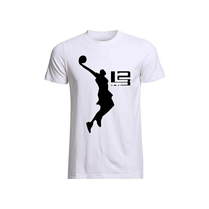 detailed look 396ef 24cd3 Cool Men T Shirt LeBron James Boy T Shirts Men Short Sleeve Men's Tees Male  Sale Round Neck