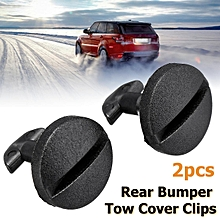 2pcs Rear Bumper Tow Cover Clip Towing Eye Trim For Land Rover Discovery 3 4