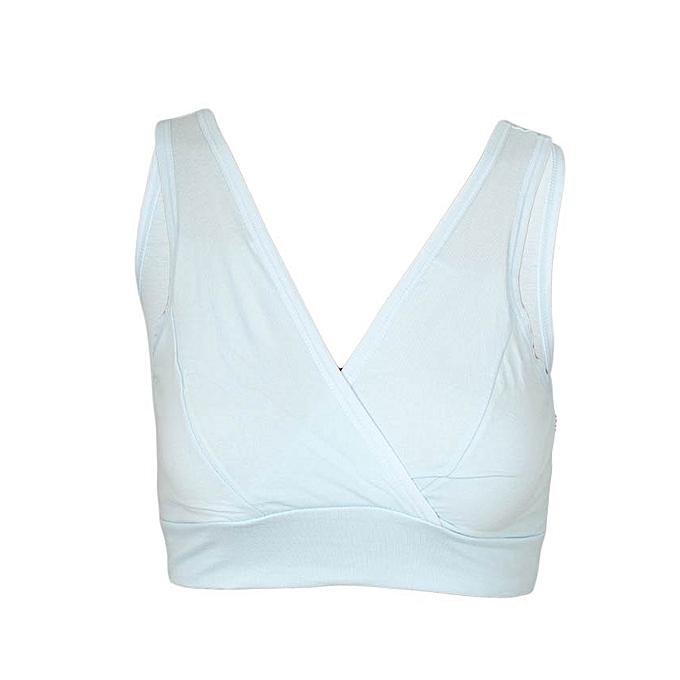 Blue Nursing /Breastfeeding Sleep or Light Exercise Bra
