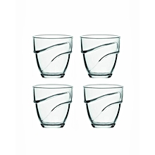 Wave Clear Tumbler - Set of 4 - 22CL - Clear