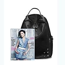The New 2016 Han Edition Fashion Female Bag Backpack Rivets Bag Pu Bag In Summer