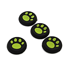 4pieces Thumb Stick Grips Caps Gamepad Joystick Cover Case For Sony PlayStation 3 4 PS3 PS4 Xbox One 360 Controller ThumbStick Green