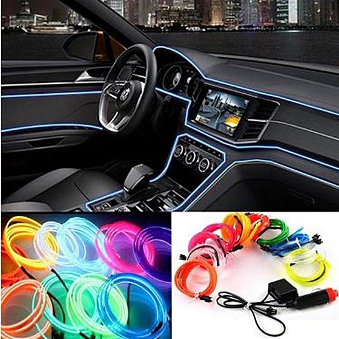 Buy Allwin 3m Car Interior Light Strip 12v Led Cold Lights Flexible