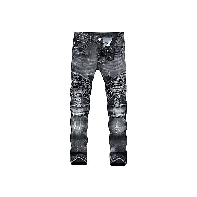 Fashion Designer Jeans Men Straight Dark Blue Color Printed Mens Jeans  Ripped Jeans-black   64cfd277c
