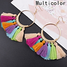 Alloy Retro Vintage Bohemia Long Tassel Dangle Stud Earring Women Fashion Jewelry