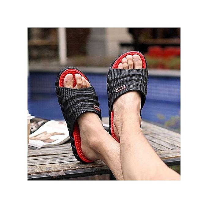 e720f41bd570 2017 Summer Slippers Men Casual Sandals Leisure Soft Slides Eva Massage  Beach Slippers Water Shoes Men s