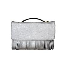 Silver Shoulder Bag/ Baguette