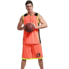 3d51ba6fa Newest Men  039 s Customized Blank Basketball Team Sports Jersey Uniform -Orange(