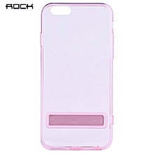Ultra-thin TPU Cover With Holder For IPhone 6 / 6S 4.7 Inch - Shallow Pink