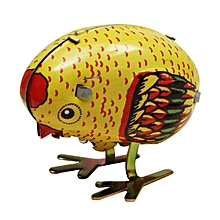 Wind Up Chick Tin Toy Clockwork Spring Pecking Chick Vintage Style-