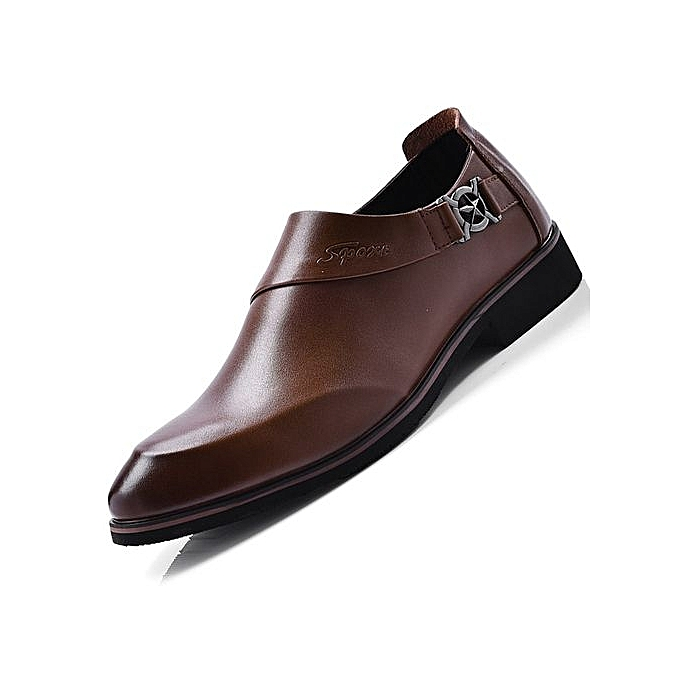 3a04eb67128 2018 The New Genuine Leather Men Formal Shoes British Style Loafers Slip-On  - Brown