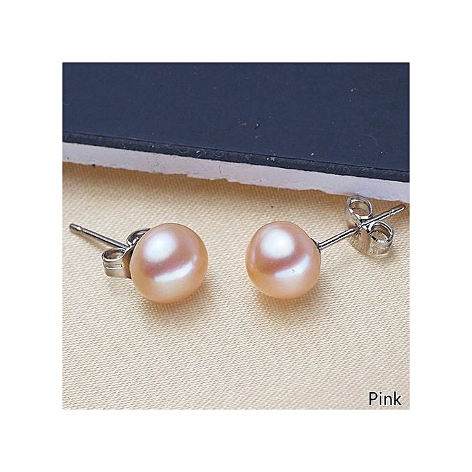 bbcb4c983 Fashion Sterling Silver Plated Natural White Freshwater Pearl Stud ...