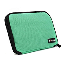 Cable Organizer Bag Case Purse can put Cables USB Flash Drive Chargers Headsets Green