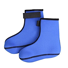 3mm Neoprene Swim Diving Socks Scuba Surfing Water Swimming Sports Boots Wet Blue