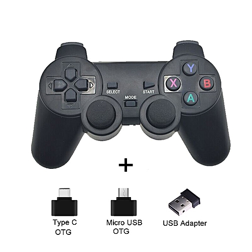For Sony PS3 Android Phone TV Box PC 2 4G Wireless Joystick For Huawei OTG  Smart Mobile Phones Game Controller Remote Joypad DNSHOP