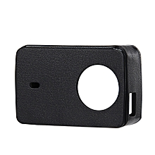Protective Leather Cover + UV Lens Cover for Xiaomi YI 4K Action Camera 2 - Black
