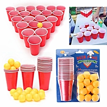 BEER PONG Pub Party Fun Drinking Game 24 450mL Cups and 24 Ping Pong Balls