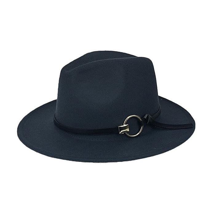 e37fba7dd Men Women Vintage Felt Panama Style Beach Jazz Hat England Wide Brimmed Top  Hat