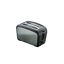 2 Slice Bread Toaster - Silver & Black