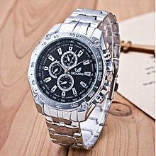 Three-eye, six-pin Geneva watch men's business stainless steel quartz watch