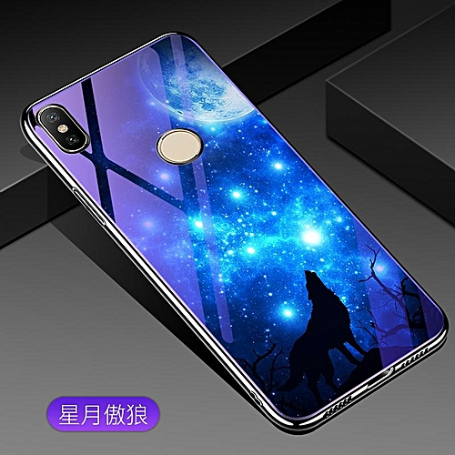 size 40 413f3 dd59e For Xiaomi Redmi S2 Lovely Cartoon Wolf Flower Blue Light Back Cover For  Xiaomi Redmi Y2 /S2 Anti-Explosion Tempered Glass Case Fundas 5.99inch  276345 ...