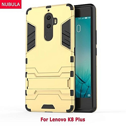 purchase cheap 626f2 a5b18 2 In 1 Hard Back Cover Armor Shell Case With Built-in Stand For Lenovo K8  Plus 167206 (Blue)