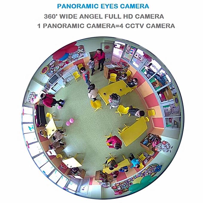 V380 Series Full HD1080P 360? Wifi Ip Camera Panoramic Camera Sound  Recorder Alarm System VR CCTV (16GB