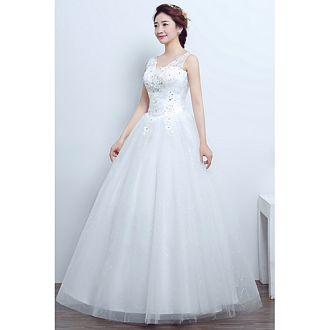 Buy Fashion Princess Lace Beach Wedding Dress Ball Gown At Best Price